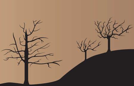 arboles secos: Triste fondo oscuro �rboles muertos