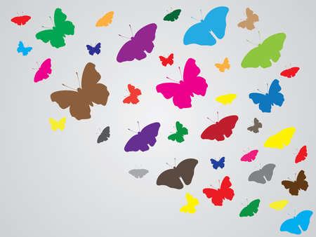 simple background: Simple abstract colored butterfly background