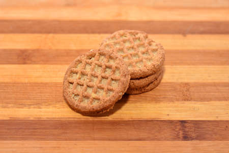 crunchy: Crunchy biscuits on wood background