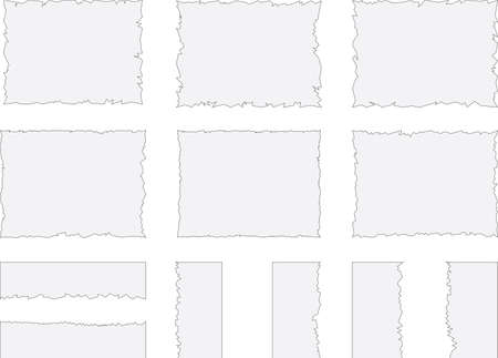 Broken pages illustration. Ilustrace