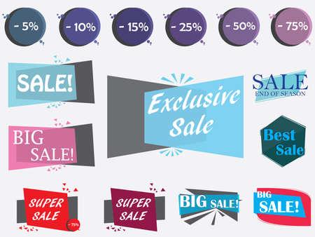 Sale design elements illustration.