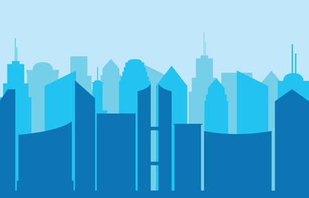 City panorama illustration.