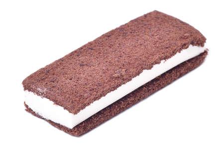 Ice Cream sandwich isolated on white