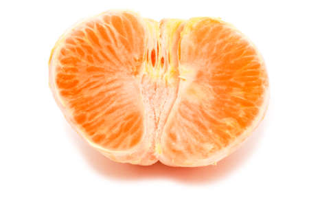 Half orange isolated on white background Stock fotó