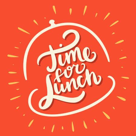 to lunch: Hora de almorzar. Vectores