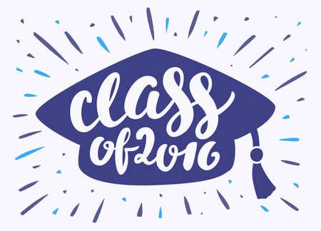 gorras: Clase de 2016. Ilustraci�n para la ceremonia de graduaci�n.
