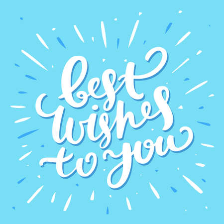 best wishes: Best Wishes card. Hand lettering. Vector hand drawn illustration. Illustration