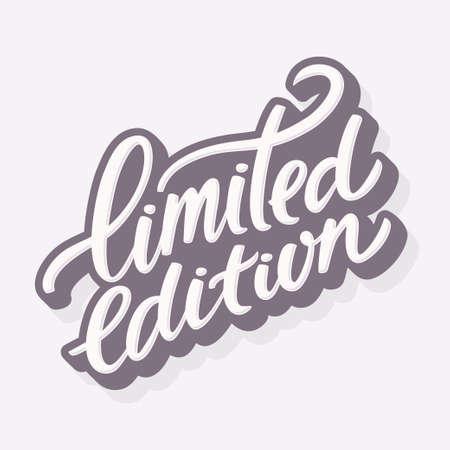 Limited edition. Hand lettering. Vector hand drawn illustration. Banco de Imagens - 58640166