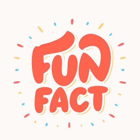 Fun fact Cute lettering. Stock Illustratie
