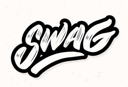 Swag. Vector lettering. Vector hand drawn illustration. Illustration