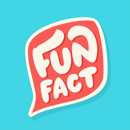 Fun fact. Vector lettering. Vector hand drawn illustration.
