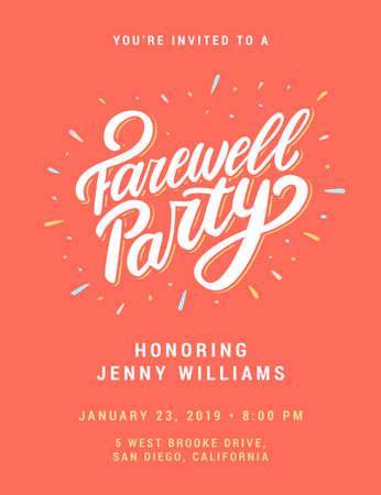 Farewell party invitation.