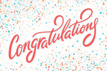 Congratulations card. Hand lettering