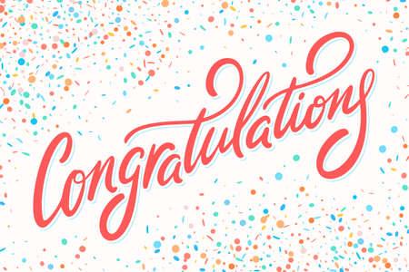 Tarjeta de felicitaciones. Letras de mano