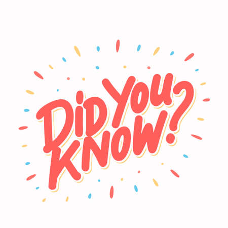 Did you know. Vector lettering. Stock Illustratie
