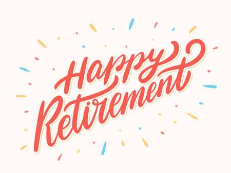 Szczęśliwy transparent emeryturę.