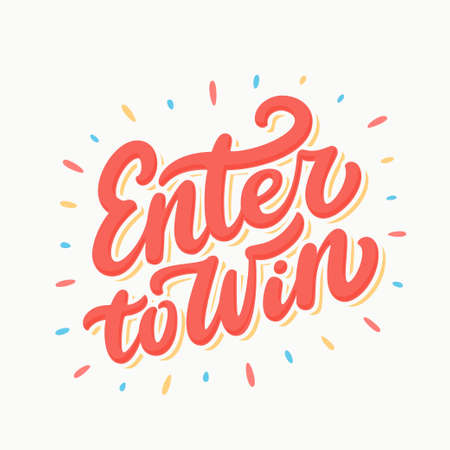 Enter to win sign. Stock Illustratie
