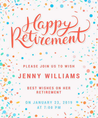 Happy retirement. Party invitation. 免版税图像 - 101923416