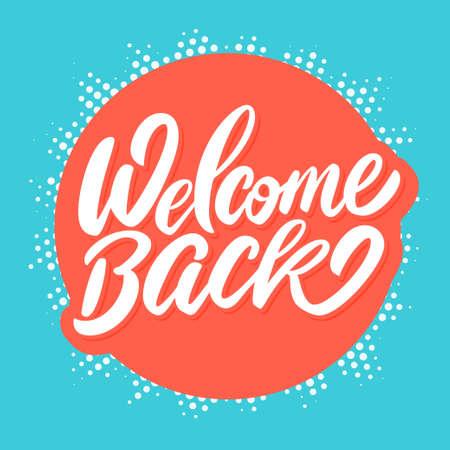 Welkom terug banner. Vector Illustratie