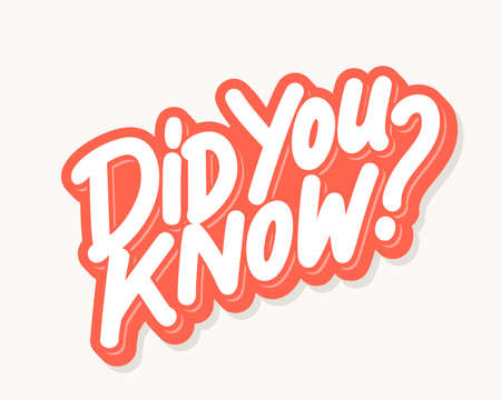 Did you know. Lettering.