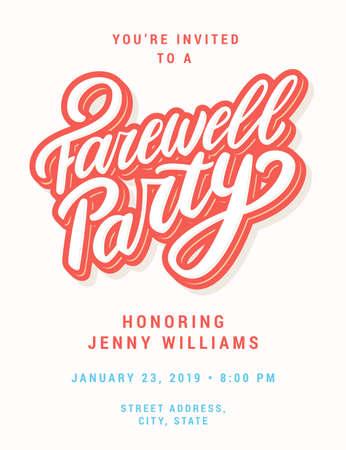 Invitación a fiesta de despedida.