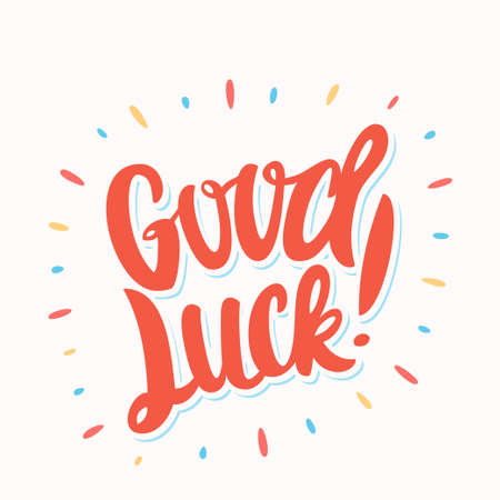 Good luck. Farewell card. 스톡 콘텐츠 - 106644008