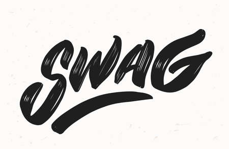 Swag. Vector lettering. illustration. Vector hand drawn illustration. Illustration