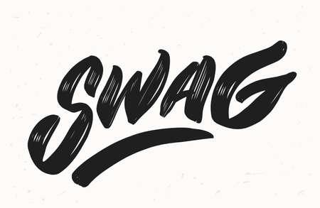 Swag. Vector lettering. illustration. Vector hand drawn illustration. 일러스트