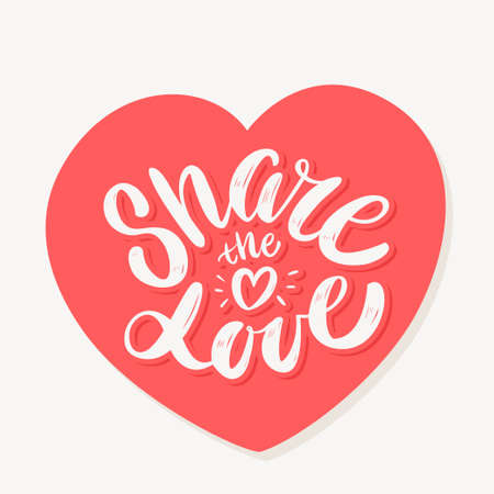 Share the love. Vector hand drawn illustration.