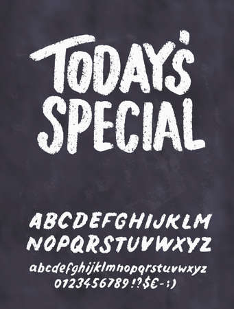 Today's special menu. Chalkboard menu template. Vector hand drawn illustration.