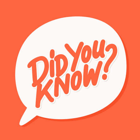 Did you know. Lettering. Vector hand drawn illustration.