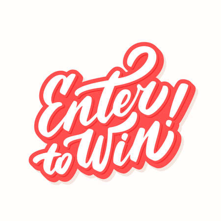 Enter to win sign. Stock fotó