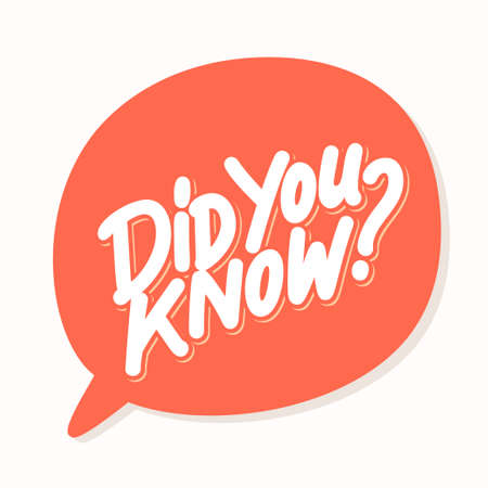 Did you know. Lettering. Banco de Imagens - 114854912