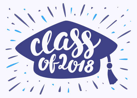 Class of 2018. Graduation banner. Banco de Imagens - 114854917