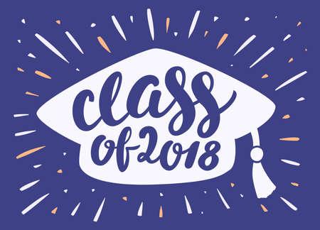 Class of 2018. Graduation banner. Banco de Imagens - 114854926