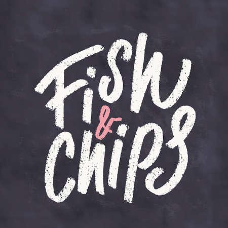 Fish and Chips. Menu template. Фото со стока
