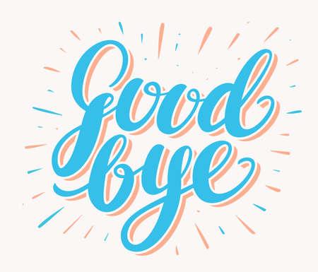 Goodbye. Hand lettering. Фото со стока