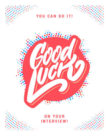 Good luck. Farewell card. Vector hand drawn illustration.