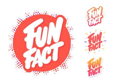 Fun fact. Vector lettering set.