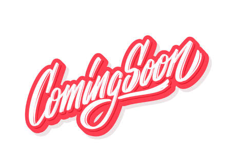 Coming soon. Vector lettering banner.