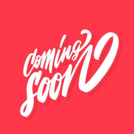 Coming soon. Vector banner.