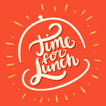 Time for lunch. Vector lettering. Illusztráció