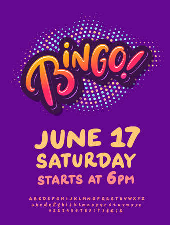 Bingo. Vector invitation flyer.