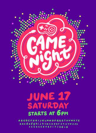 Game night flyer.  イラスト・ベクター素材