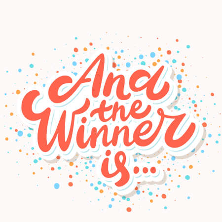 And the winner is... Vector lettering.  イラスト・ベクター素材