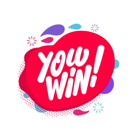 You win. Vector lettering banner.