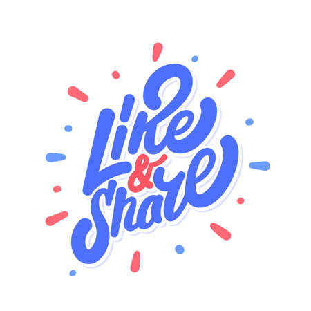 Like and Share. Vector icon.