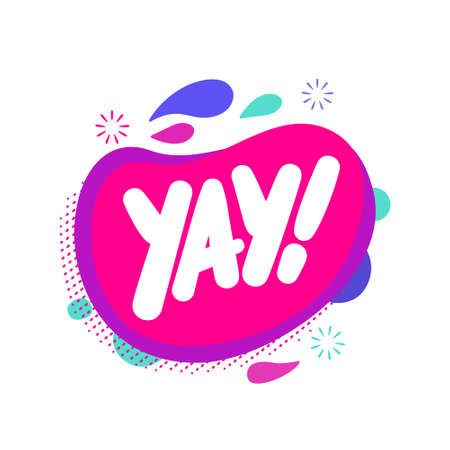 Yay. Vector lettering icon.  イラスト・ベクター素材