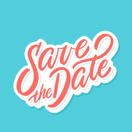 Save the date. Vector lettering.  イラスト・ベクター素材