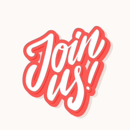 Join us. Vector lettering banner.  イラスト・ベクター素材